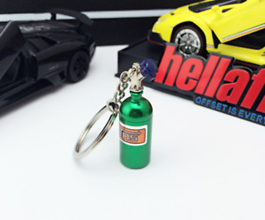 Portable Keychain NOS Mini Nitrous Oxide Bottle Keyring Stash Pill Box Storage