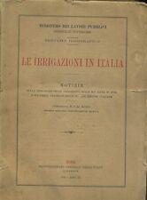 LE IRRIGAZIONI IN ITALIA servizio idrografico estensione modalità prezzi 1931