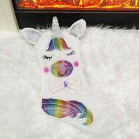 Unicorn Embroidered Xmas Stocking Luxury Sack  Home Christmas Tree Ornament Wzm