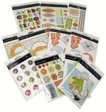 Bulk Lot #43 S.E.I. Oasis Scrapbook Stickers Die-Cuts Brads Tags + 176 pcs