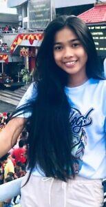 Human hair Ponytail Fresh haircut Young Girl 17inch 44cm