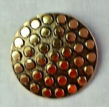 Signed Vintage West Germany Gold Tone Round Scarf Clip