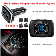 Car TPMS Tire Tyre Pressure Temperature Monitor System+Sensors Cigarette Lighter