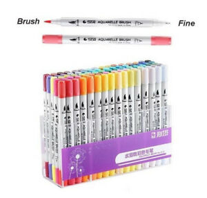 Dual Tip Brush Markers Pens Set Art Paint Highlighter For School Drawing Sketch