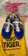 Vintage Tiger Asics Track Spike Sneaker Suede Shoes Blue Men's 6.5