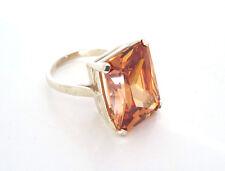 Citrine Ring Solitaire Ring Statement Ring Handmade In Jewellery Quarter B'ham