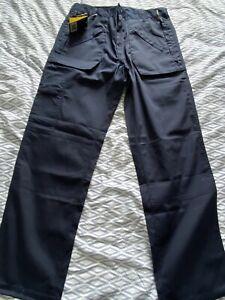 Trojan Work Trousers Navy Size W34 L33