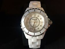 Chanel J12 Mother Of Pearl Diamond Dial 33Mm White Ceramic Watch H2422