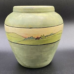 Vtg. Art Pottery Flower Planter in the Style of Saturday Evening Girls Landscape