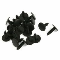20Pcs Plastic Fir Tree Trim Panel Clips 16mm Head for 4.8mm Hole Black C6V1