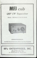 Orig Factory MFJ Cub 9315 17 20 30 40 80 QRP CW Radio Transceiver Owner's Manual
