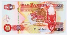 2008 Zambia 50 Kwacha Unc 4615749 Paper Money Banknotes Currency