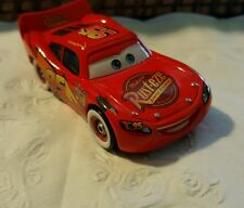 Disney Pixar Cars Lightning McQueen With Bumper Stickers Rare Loose 1:55