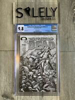 Walking Dead #1 15th Anniversary Black White Variant Cover C CGC 9.8 Graded Slab