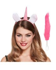 FANCY DRESS UNICORN ACCESSORY SET EARS HORN TAIL HALLOWEEN HEAD BAND COSTUME HEN