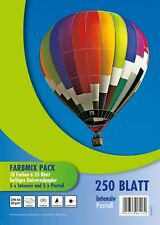 250 Blatt farbiges Druckerpapier / buntes Kopierpapier / 10 verschiedene Farben