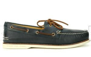 Sperry Men's Gold Cup Authentic Original 2-Eye Navy Boat Shoes STS15803 NEW