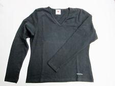 NEU Fruit Of The Loom Langarm Shirt schwarz Gr. M V-Ausschnitt Lady Fit T-Shirt