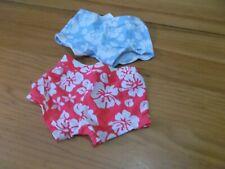 Lote de 2 pantalones bañadores cortos niña talla 6 meses