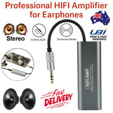 Portable HIFI Stereo Audio AMP Headphone Earphone Amplifier 3.5mm AUX For Phones