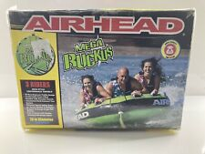 "Airhead Mega Ruckus 3-Person Rider Inflatable Towable Boat 70"" Deck Tube Water S"