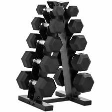 CAP Barbell 150 lbs Dumbbell Set with Rack 5 10 15 20 25 lbs pounds weights gym