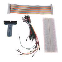GPIO Erweiterungskarte Typ T + Kabel+Steckbrett+65 Jumper Kabel für Raspberry Pi
