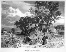 Föhr, Feer, Før, Original-Holzstich von Gustav Schönleber von 1884