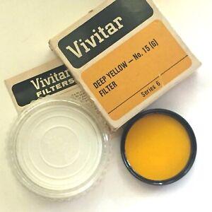 Vivitar #15 Wratten Deep Yellow Series VI Filter with Orig Case.(Threaded 44mm)