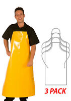 """HiLite Adjustable Janitorial/Chemical Apron Extra Long Waterproof 29""""W 47""""L  888"""