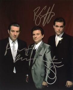De Niro, Pesci, Liotta - Goodfellas Original Autographs Hand Signed 8x10 w/ COA
