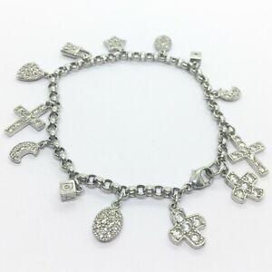 Sterling Silver Charm Bracelet Moon Star QVC 20g