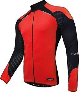 Funkier Force J-730K-1-LW Kids Long Sleeve Jersey in Red/Black Large(Age 12 Apx)