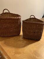 Mixed Lot Baskets -Vintage Wicker Rattan Woven Bamboo Farmhouse Primitive p90