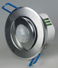 360 Grad Bewegungsmelder silber schwenkbar Unterputz IP20