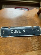 1962 Dublin Virginia front plate or tag topper