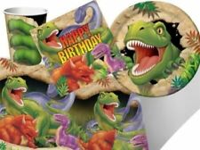 Decoración y menaje para mesas de fiesta de dinosaurios