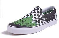 Vans Classic Slip-On Men's Marvel Hulk Checkered Skateboard Shoes Choose Size