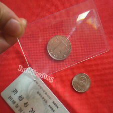 BULK SELLING- LOT OF 10PCS CREDIT CARD SIZE 3X MAGNIFIER MAGNIFYING FRESNEL LENS