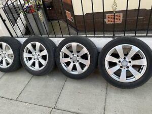 MERCEDES C CLASS W204 16 inch Alloy Wheel & tyre 205/55/16 7 spoke