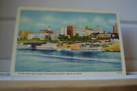 1938 River Front and Levee To Business District - Memphis Tennessee Postcard