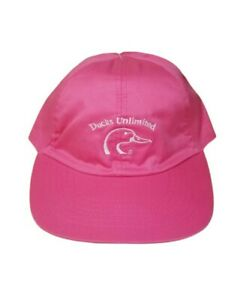 Ducks Unlimited Pink Hat Cap Youth Kids Elastic Band One Size Fits Most Vintage