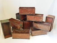LOT DE 11 CAISSES BAC STOCKAGE SUROY INDUSTRIELLES LOOS FRANCE VINTAGE 1950 50S