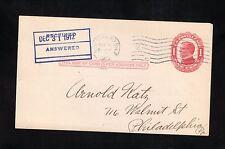 William McKinley Postal Card--1912 New York Station P (DPO 47)--American Express