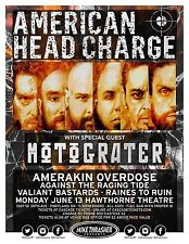 AMERICAN HEAD CHARGE  2016 Gig POSTER Portland Oregon Concert