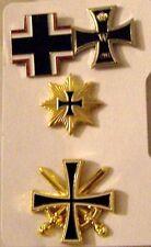 German Prussian Iron Cross Medal Badge Pin Battle Set Army Navy War Eagle Case S