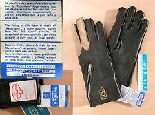 Gants SEGURA  -TAILLE 8- d'époque, neufs - Vintage NOS motorcycle leather gloves