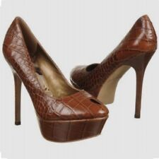 Sam Edelman Niland Platform Pump Croco Print Heels Shoes Size US 9 1/2  EUR 40