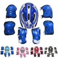 Boys Girls Kids Safety Helmet & Knee & Elbow Pad Set For Cycling Skate Bike Use
