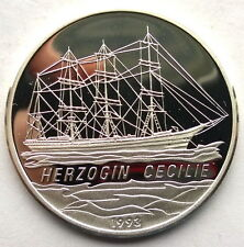Congo 1993 Herzogin Cecilie 1000 Francs Silver Coin,Proof